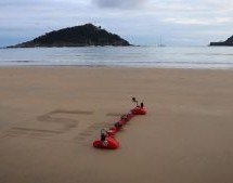 TRACKED ROBOT MAKES SAND DRAWINGS