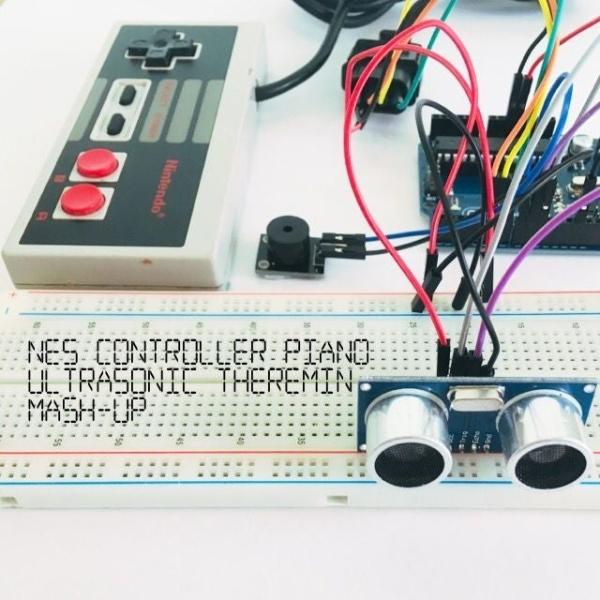 NES Controller Piano / Ultrasonic Theremin Mash-Up