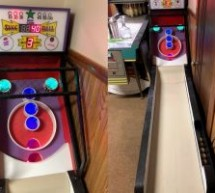 SKEE-BALL SCORING WITH COIN SLOT SWITCHES