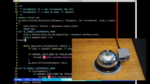 USB BELL RINGS IN CUSTOM TERMINAL