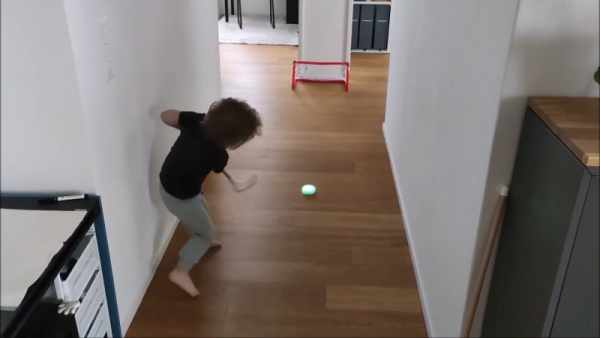 DAD SCORES BIG WITH DIY INDOOR HOCKEY GAME