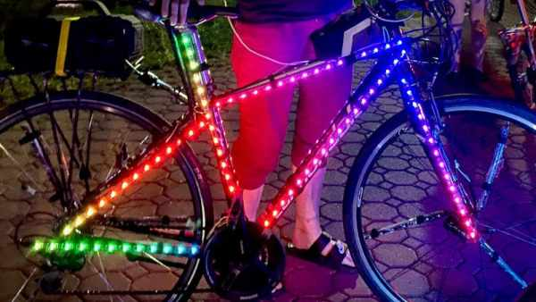 RGB PARTY BIKE FLASHES WITH THE BEAT