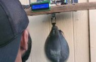 Speed bag counts your punches thanks to a little Arduino